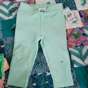 Mint green pants with stripes